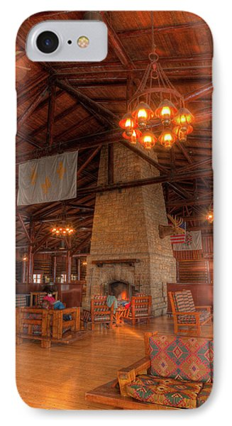 The Lodge At Starved Rock State Park Illinois IPhone Case by Steve Gadomski