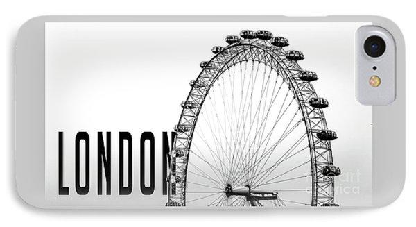 London Eye iPhone 7 Case - The London Eye by Edward Fielding