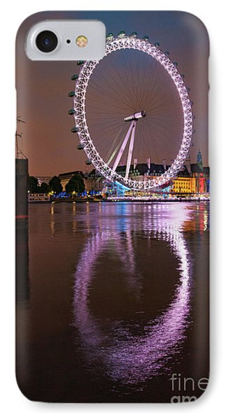 The London Eye IPhone 7 Case by Nichola Denny