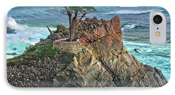 The Lone Cypress IPhone Case by Suzanne Stout