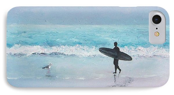 The Lone Surfer 2 IPhone Case by Jan Matson