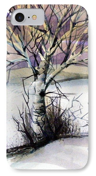 The Lone Tree Phone Case by Mindy Newman