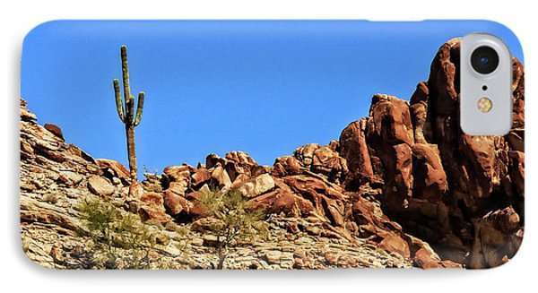 The Lonesome Saguaro IPhone Case by Robert Bales