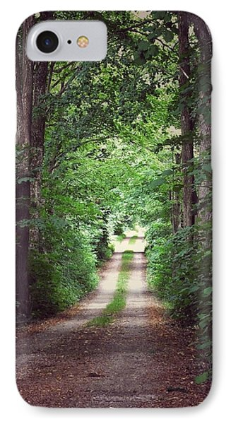 IPhone Case featuring the photograph The Long Driveway by Karen Stahlros