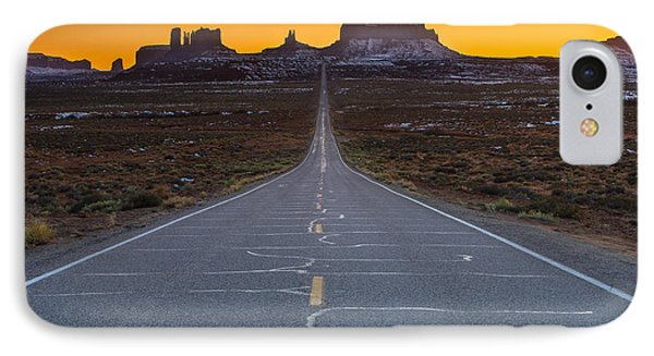 The Long Road To Monument Valley IPhone Case by Larry Marshall