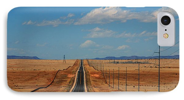The Long Road To Santa Fe Phone Case by Susanne Van Hulst
