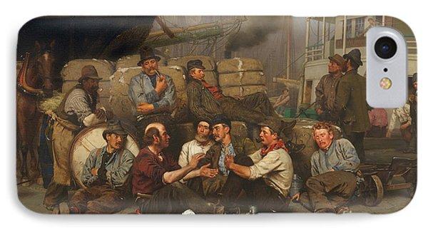 The Longshoremen's Noon IPhone Case by John George Brown