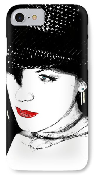 IPhone Case featuring the painting The Look by Tbone Oliver