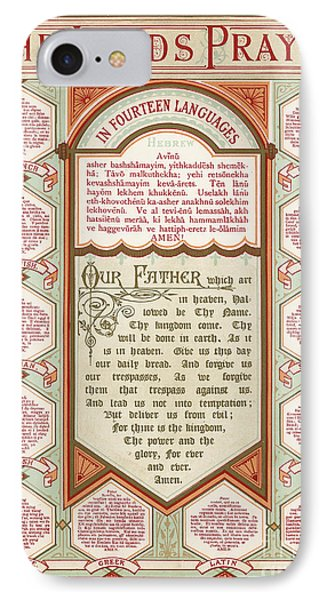 The Lord's Prayer In 14 Languages IPhone Case