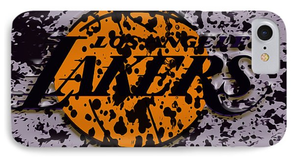 The Los Angeles Lakers B2a IPhone Case by Brian Reaves