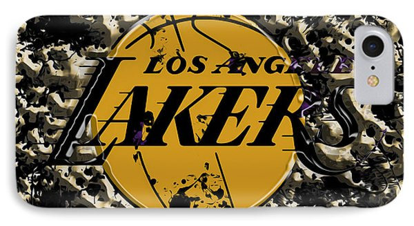 The Los Angeles Lakers B3a IPhone Case by Brian Reaves