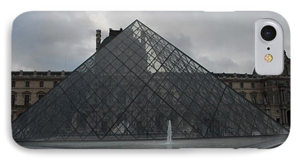 IPhone Case featuring the photograph The Louvre And I.m. Pei by Christopher Kirby