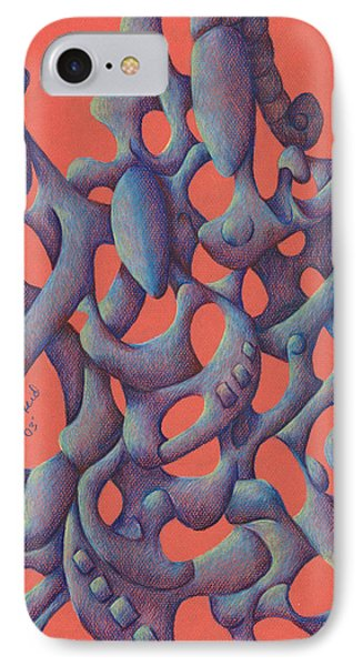 The Love Triangle IPhone Case by Versel Reid