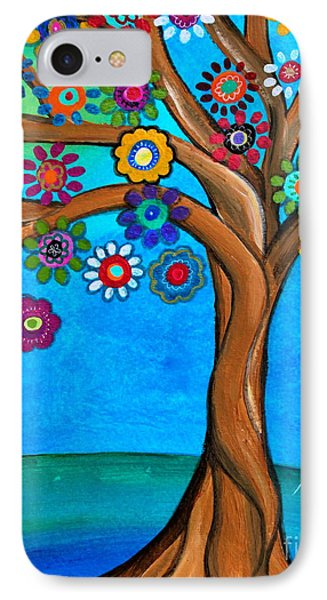 IPhone Case featuring the painting The Loving Tree Of Life by Pristine Cartera Turkus