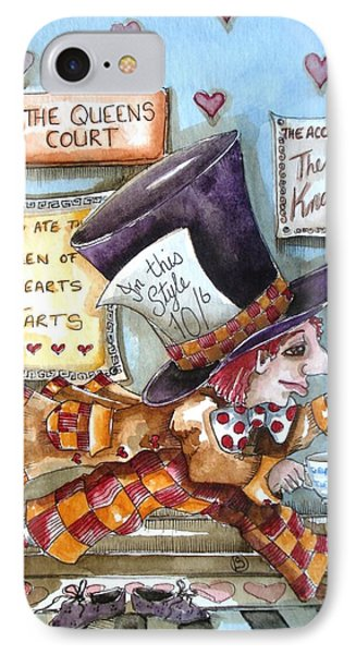 The Mad Hatter - In Court Phone Case by Lucia Stewart