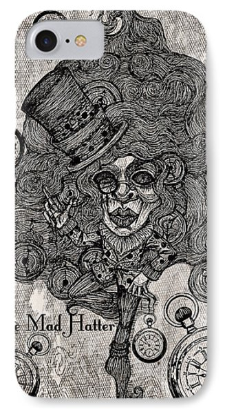 The Mad Hatter IPhone Case by Akiko Okabe