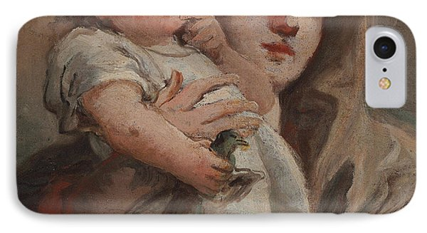 The Madonna And Child With A Goldfinch IPhone Case by Tiepolo