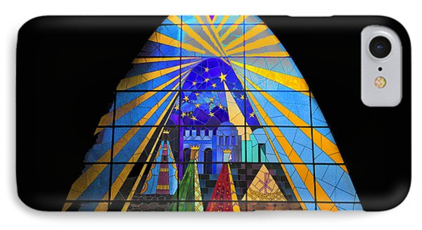The Magi In Stained Glass - Giron Ecuador IPhone Case by Al Bourassa