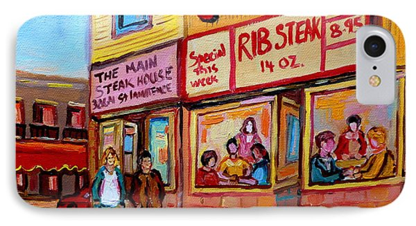The Main Steakhouse On St. Lawrence Phone Case by Carole Spandau