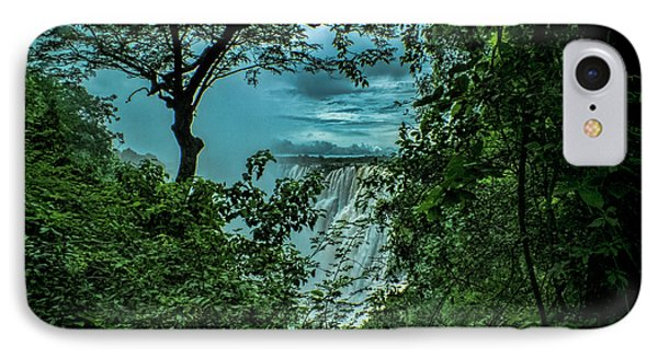 IPhone Case featuring the photograph The Majestic Victoria Falls by Karen Lewis