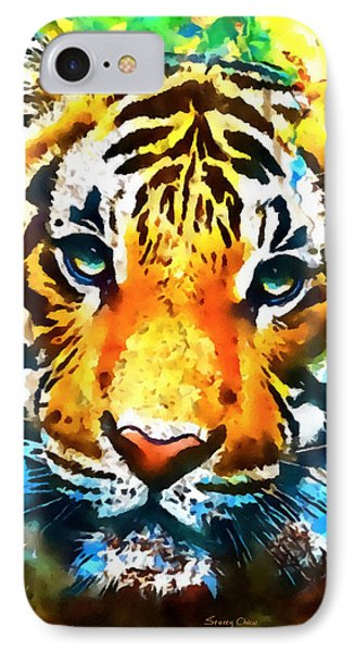 The Malayan Tiger IPhone Case by Stacey Chiew