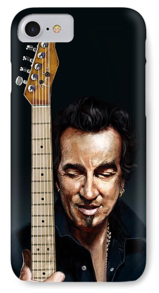 The Man And His Guitar IPhone Case by Arie Van der Wijst