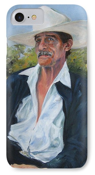 The Man From The Valley IPhone Case by Connie Schaertl