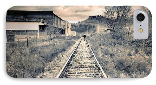 The Man On The Tracks IPhone Case by Tara Turner