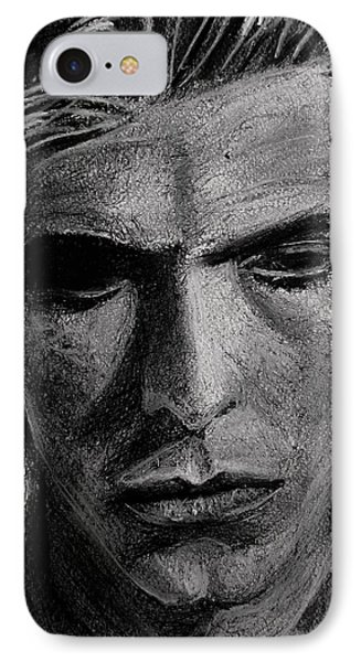 IPhone Case featuring the painting The Man Who Fell To Earth 1976 by Jarko Aka Lui Grande
