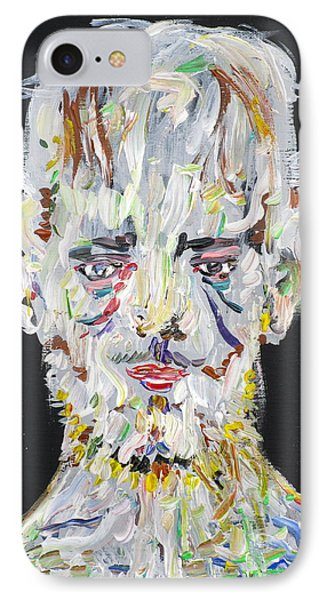 IPhone Case featuring the painting The Man Who Tried To Become A Mountain by Fabrizio Cassetta