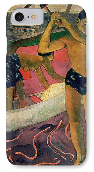 The Man With An Axe IPhone Case by Paul Gauguin