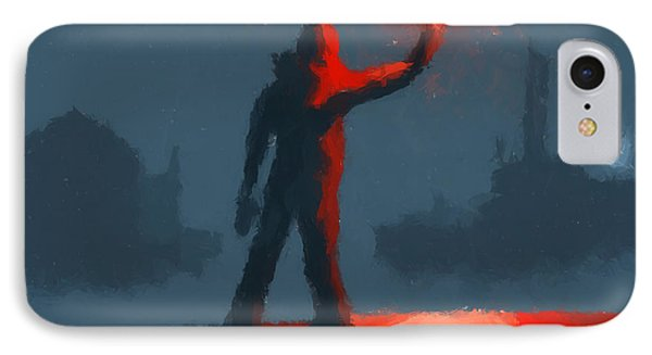 The Man With The Flare IPhone Case by Pixel  Chimp