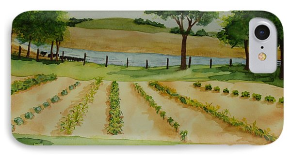 IPhone Case featuring the painting The Mangan Farm  by Vicki  Housel