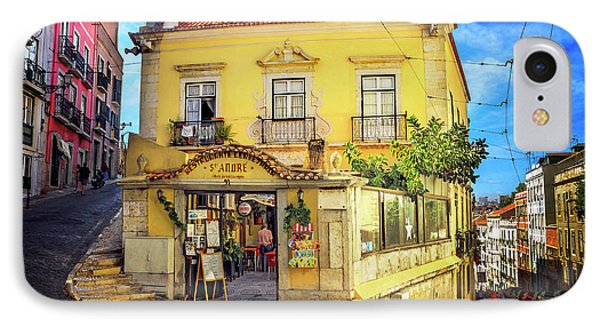 The Many Colors Of Lisbon Old Town  IPhone Case by Carol Japp