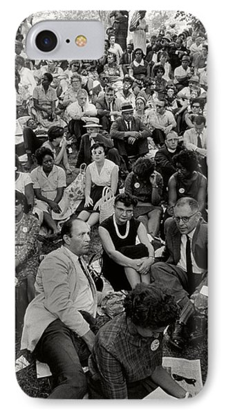 The March On Washington   A Crowd Of Seated Marchers IPhone Case by Nat Herz