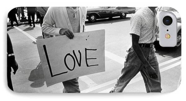 The March On Washington   Love IPhone Case by Nat Herz
