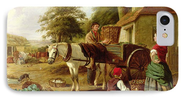 Cabbage iPhone 7 Case - The Market Cart by Henry Charles Bryant