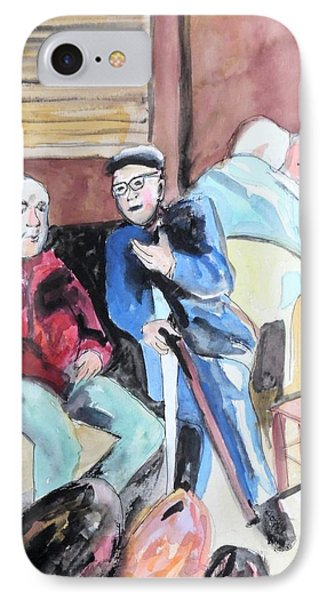 IPhone Case featuring the painting The Market Parliament by Esther Newman-Cohen
