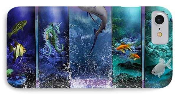 The Marlin And His Sea Friends  Phone Case by Ali Oppy