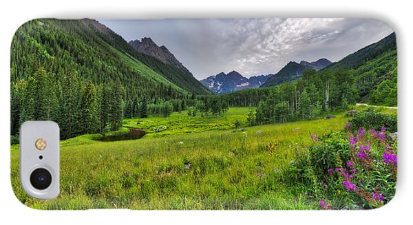 IPhone Case featuring the photograph The Maroon Bells - Maroon Lake - Colorado by Photography By Sai