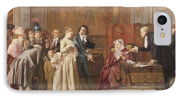 The Marriage  IPhone Case by Jules Adolphe Goupil