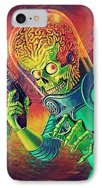 The Martian - Mars Attacks IPhone 7 Case by Taylan Apukovska
