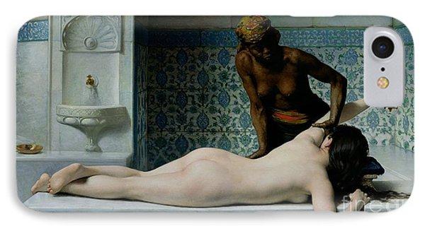 The Massage IPhone Case by Edouard Debat-Ponsan
