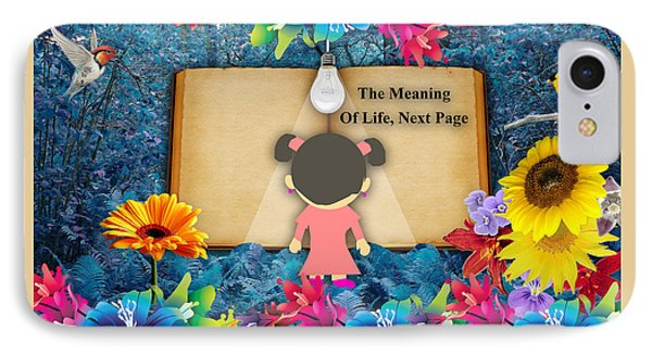 The Meaning Of Life Art IPhone Case by Marvin Blaine