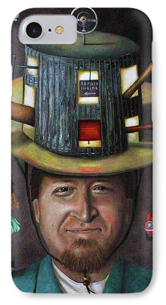 The Mechanic Part Of The Thinking Cap Series IPhone Case by Leah Saulnier The Painting Maniac