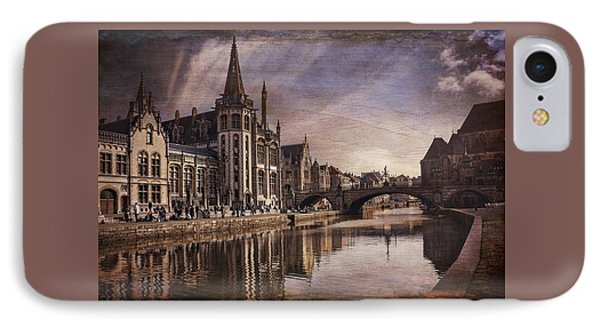 The Medieval Old Town Of Ghent  IPhone Case by Carol Japp