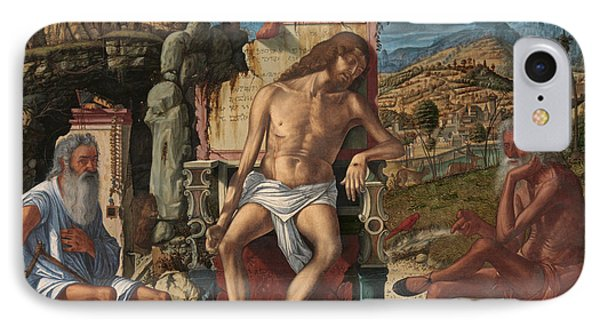 IPhone Case featuring the painting The Meditation On The Passion by Vittore Carpaccio