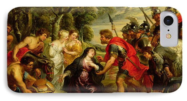 The Meeting Of David And Abigail IPhone Case by Peter Paul Rubens
