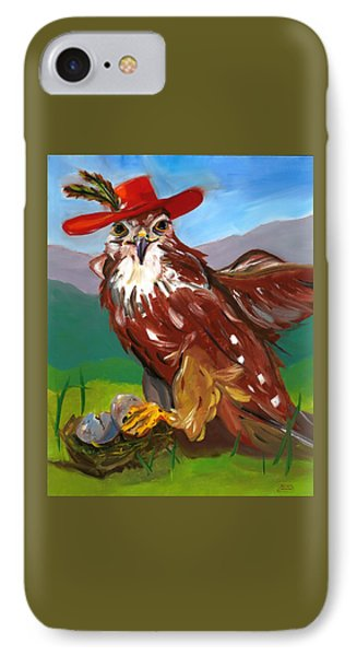 IPhone Case featuring the painting The Merlin by Susan Thomas