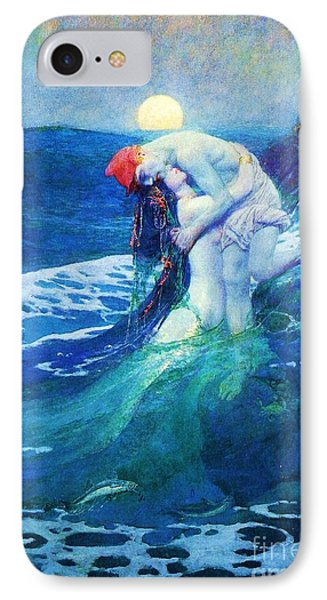 The Mermaid IPhone Case by Pg Reproductions